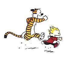 Calvin And Hobbes runner Photographic Print