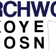 Torchwood Team Wordplay - Series 2 Sticker