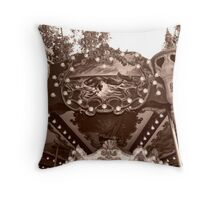 Detail of the Jules Verne Carrousel Throw Pillow
