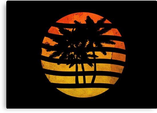 Palm Trees Grunge Sunset by Denis Marsili - DDTK