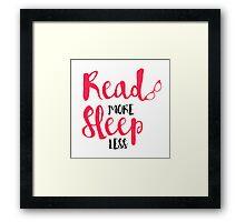 Read/Sleep 2 Framed Print