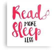Read/Sleep 2 Metal Print