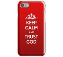 Religious Christian iPhone 6s Case Cover Keep Calm And Trust God Red iPhone Case/Skin