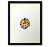 Beer Bottle 6 Pack Retro Framed Print