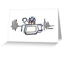 Soundwave robot Greeting Card