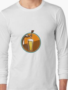 Beer Pint Glass Tap Retro Long Sleeve T-Shirt