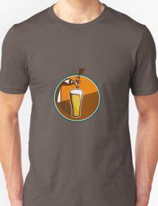 Beer Pint Glass Tap Retro T-Shirt