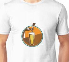 Beer Pint Glass Tap Retro Unisex T-Shirt