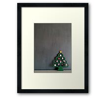 Lonely Wooden Christmas Tree   Framed Print