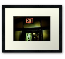 Emergency exit door  Framed Print