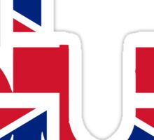 Blur - British Flag Sticker