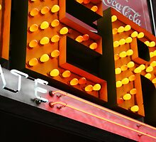 American Diner light bulbs signage by Reinvention