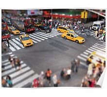 Times Square crossroad tilt shift Poster
