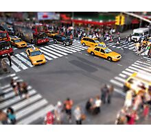 Times Square crossroad tilt shift Photographic Print