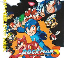 Mega Man 3 Japanese Ad art (Rockman 3) shirt NES / Famicom by augoosto