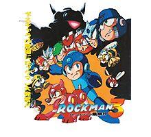 Mega Man 3 Japanese Ad art (Rockman 3) shirt NES / Famicom Photographic Print