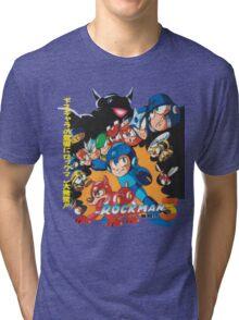 Mega Man 3 Japanese Ad art (Rockman 3) shirt NES / Famicom Tri-blend T-Shirt