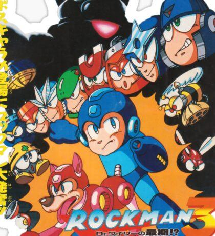 Mega Man 3 Japanese Ad art (Rockman 3) shirt NES / Famicom Sticker