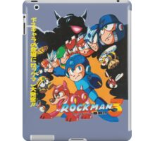 Mega Man 3 Japanese Ad art (Rockman 3) shirt NES / Famicom iPad Case/Skin