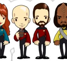 Space... The final frontier. These are the voyages of the starship Enterprise Sticker