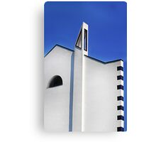 Blue and white 6 Canvas Print