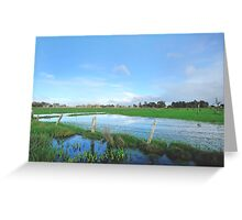 winter pastures Greeting Card