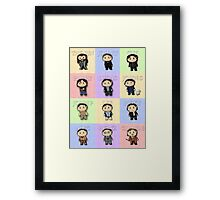 Team Everyone Richard Armitage Characters  - Without Text Framed Print