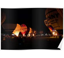 ight glow at the 35th Bristol International Balloon fiesta Poster