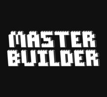 MASTER BUILDER in Brick Font by Chillee Wilson from Customize My Minifig by ChilleeW