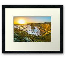 Sunset at the Twelve Apostles Framed Print