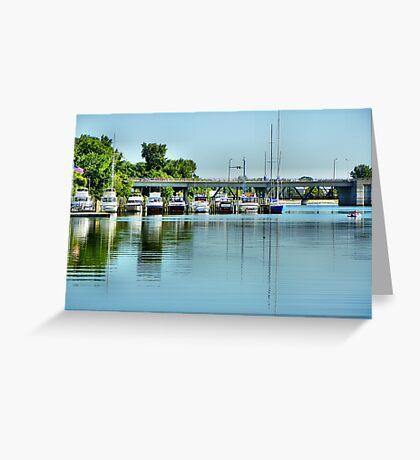 Bay City Marina Greeting Card
