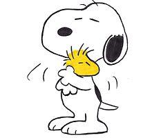 hug Peanuts Snoopy by DinaPurifoy