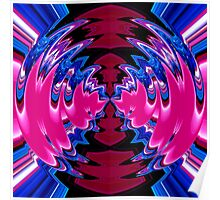 reflexion in blue & pink 001 Poster