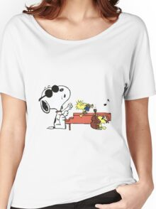 play music group snoopy Women's Relaxed Fit T-Shirt