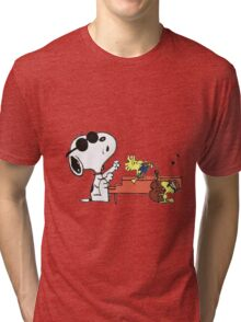 play music group snoopy Tri-blend T-Shirt