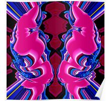 reflexion in blue & pink 002 Poster