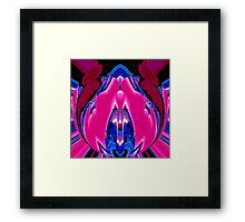 reflexion in blue & pink 003 Framed Print