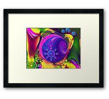 Just a Fantasy, abstract fractal artwork Framed Print
