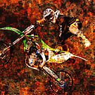 Freestyle Motocross Rider on Fire by NaturePrints