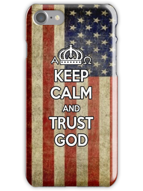 Religious Christian iPhone 6  Case Cover American Flag by Lana Wynne