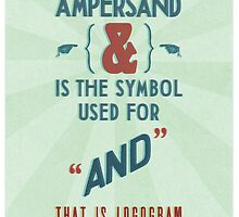 Ampersand by teacupcookie