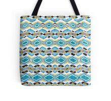 Blue Geometric Aztec Pattern Tote Bag