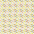 Orange Grey Layered Chevron by silvianeto