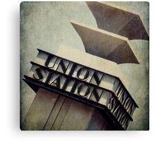 Art Deco Union Station Neon Sign Canvas Print