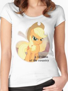 Applejack the country gal' Women's Fitted Scoop T-Shirt