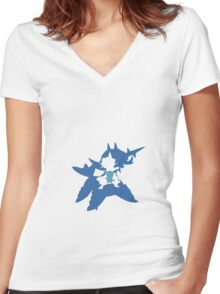 Oshawott Evolution Women's Fitted V-Neck T-Shirt
