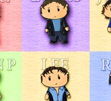 Team Everyone Richard Armitage Characters Tee - Without Text Sticker