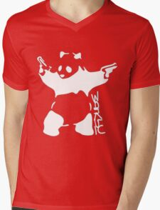Bansky Panda - Mr Teez Mens V-Neck T-Shirt