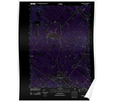 USGS TOPO Map New Hampshire NH Farmington 20120608 TM Inverted Poster