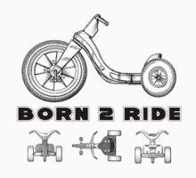 BORN 2 RIDE B Kids Tee